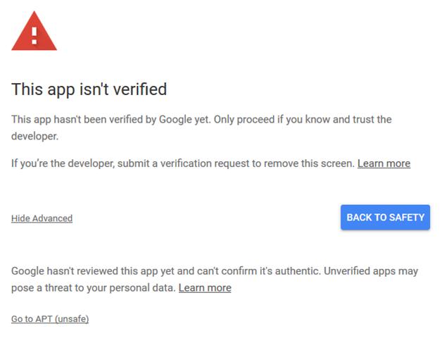 Verify the app