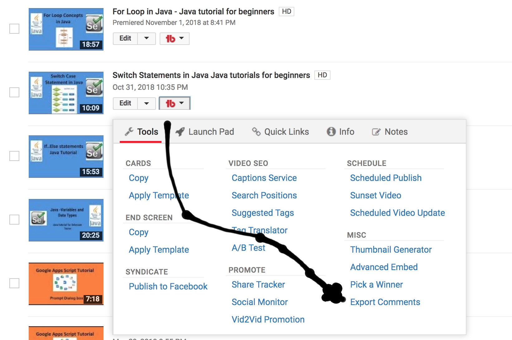 youtubecomment extractor