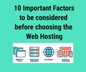 choose the best Web hosting services