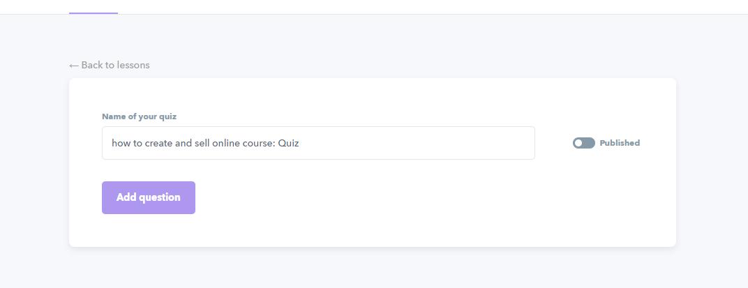 create quiz 2