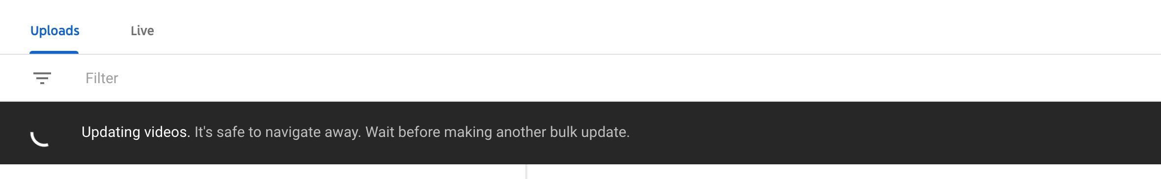 Bulk updating description