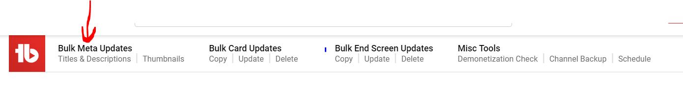 bulk meta update